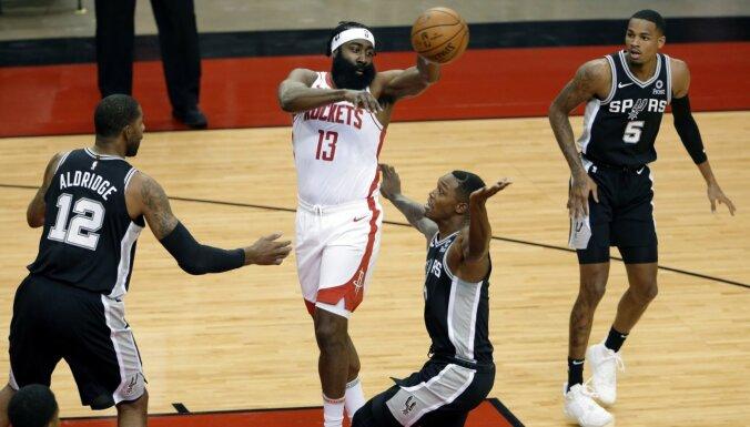 Hārdena aprises atgriešanās spēlē 'Rockets' rindās izsauc vīpsnāšanu