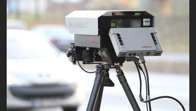 Rudenī uz ceļiem varētu sākt strādāt 160 fotoradari