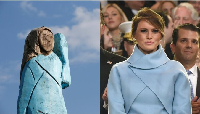 ФОТО: Это позор. Деревянная Мелания Трамп вызвала насмешки и возмущение