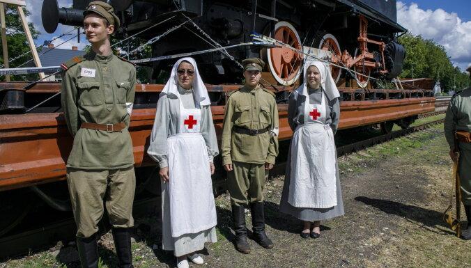 ФОТО: Цесис на один день вернулся в 1919 год