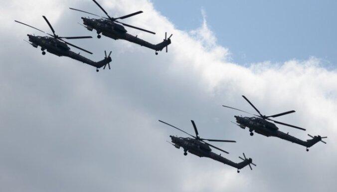 Россия начала вертолетные учения у границы с Эстонией и Латвией