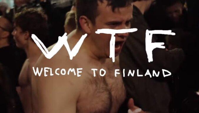 Video: Somu hokeja trakums - kailpeldes strūklakā Helsinku centrā