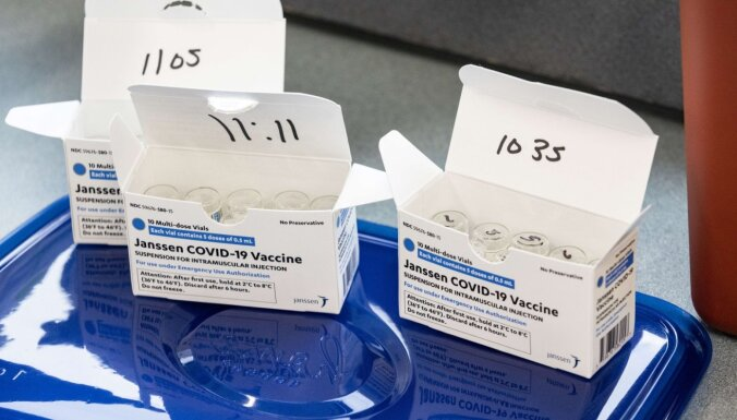EZA atbalsta 'Johnson & Johnson' vakcīnas izmantošanu (plkst. 20.20)