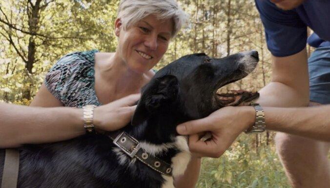 Basketbolistu Bertānu ģimene no patversmes adoptē suni