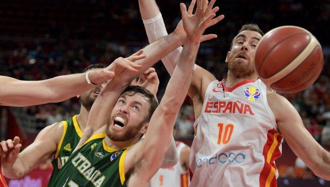 Spānijas basketbolisti otrajā pagarinājumā nodrošina vietu Pasaules kausa finālā