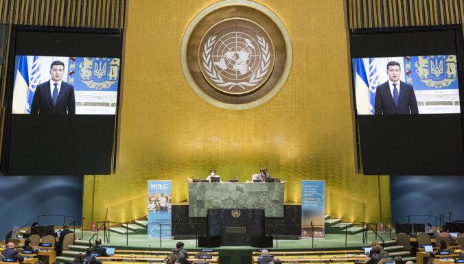 Спор в ООН об уроках Второй мировой. Зеленский говорит о российской оккупации, Лавров критикует Запад