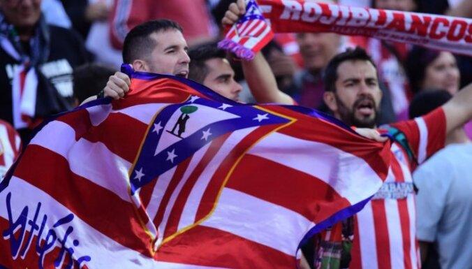 UEFA Čempionu līgas ceturtdaļfinālistes 'Atletico' nometnē konstatēti divi Covid-19 saslimšanas gadījumi