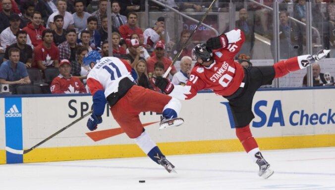 Kanādas un Eiropas izlases ar 'sausajām' uzvarām sāk Pasaules kausu hokejā
