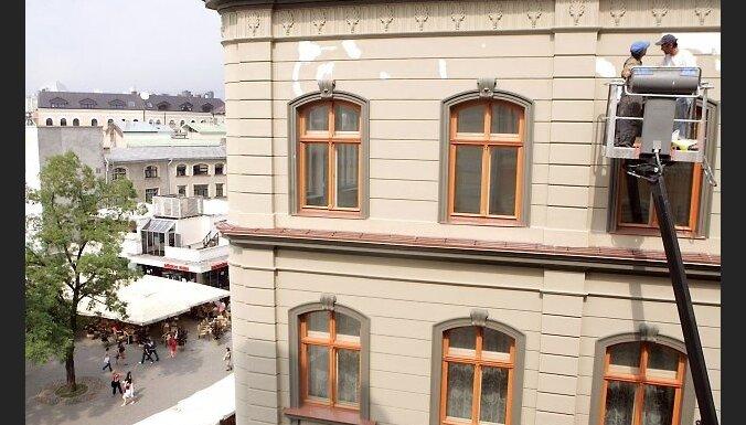 Preses konference atjaunotajā Mihaila Čehova Rīgas Krievu teātrī uzsākot 128. teātra radošo sezonu. 2010. gada jūlijs