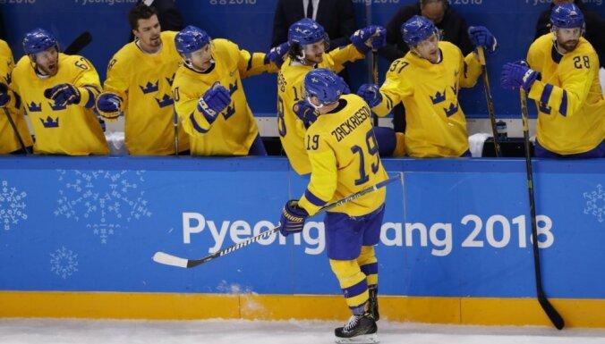 Zviedrijas hokejisti pārbaudes mačā revanšējas Somijai