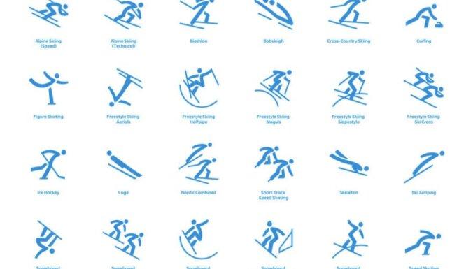 2018. gada ziemas olimpisko spēļu rīkotāji atklāj sporta veidu piktogrammas