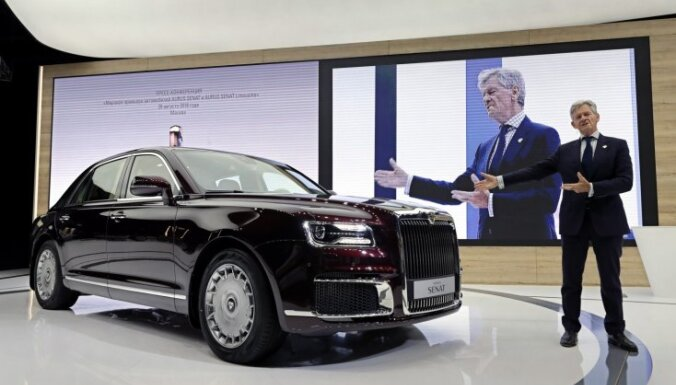 'Lamborghini', 'Toyota' un 'Michelin' iebilst pret krievu 'Aurus' marku Eiropā