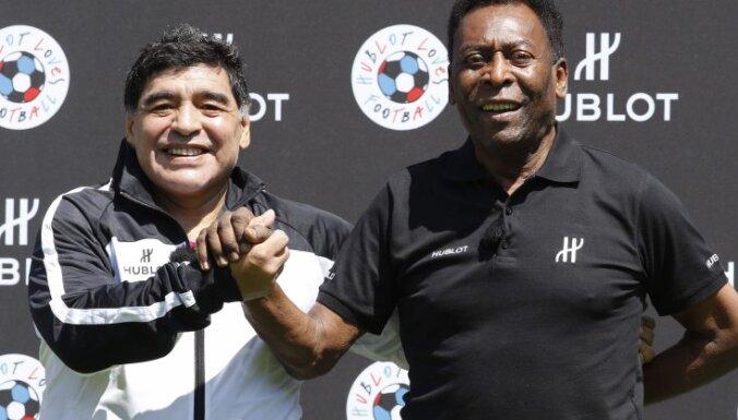 Diego Maradona and Pele