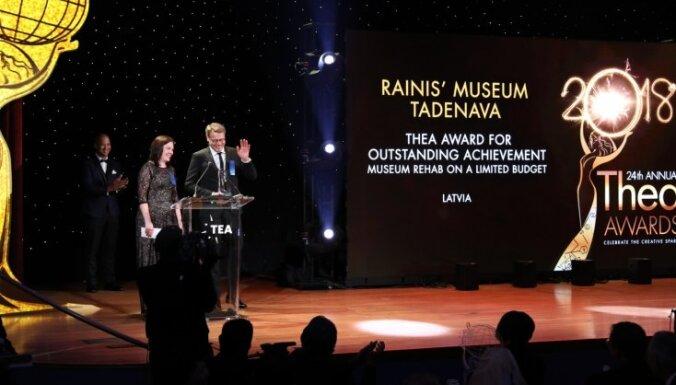 Raiņa muzejam 'Tadenava' piešķirta starptautiska balva par izciliem sasniegumiem