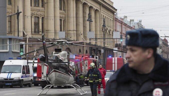 Bojāgājušo skaits Sanktpēterburgas metro sprādzienā pieaudzis līdz 16