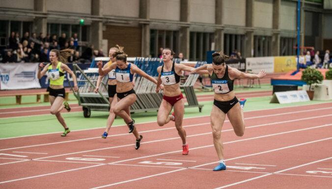Foto: Četri Latvijas vieglatlēti uzvar starptautiskās sacensībās Igaunijā