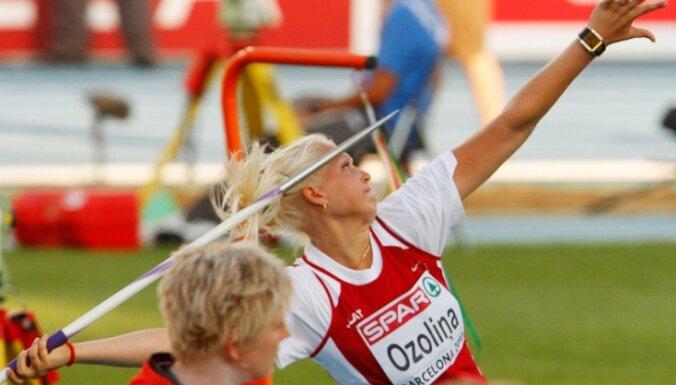 Štrobinders un Ozoliņa uzvar sacensībās 'Ventspils šķēpi'