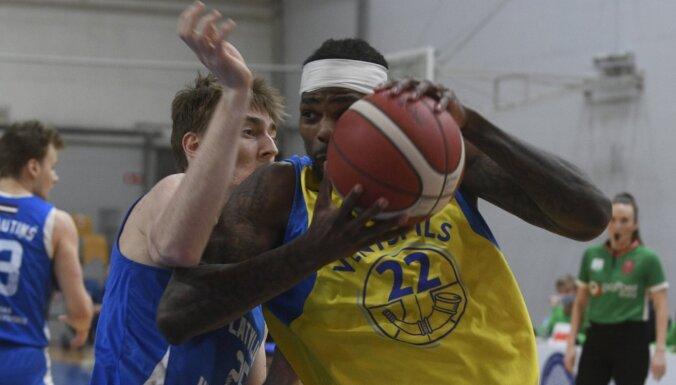 'Ventspils' pēdējā minūtē izglābjas no sensacionāla zaudējuma pret LU