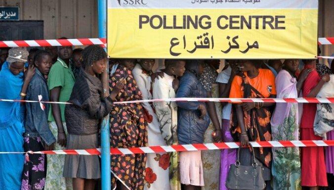Provizoriskie rezultāti: Dienvidsudānā 99% balsojuši par neatkarību