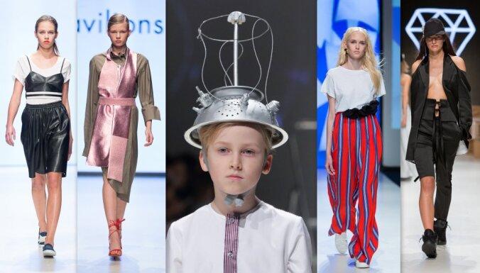 Rīgas modes nedēļas ceturtā diena: kliedzoši saukļi, sportiska sievišķība un tīra elegance