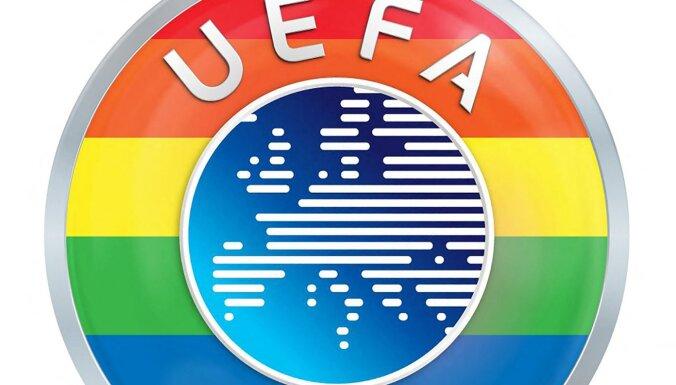 """""""Этот символ воплощает наши главные принципы"""": УЕФА окрасил свою эмблему в цвета радуги"""