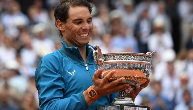 Nadals sagrauj Tīmu un 11. reizi karjerā kļūst par Francijas atklātā čempionāta uzvarētāju