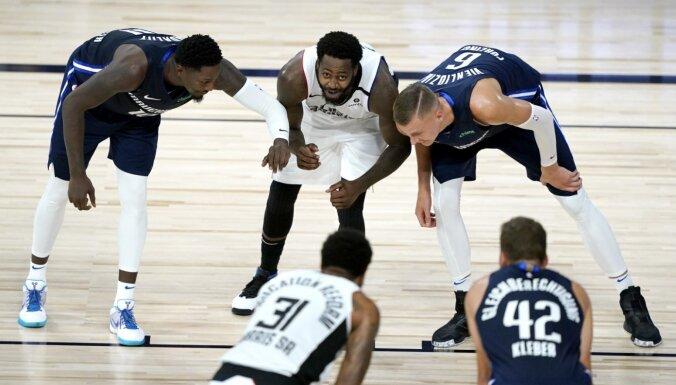 NBA zināmi septiņi 'play off' pāri; Porziņģa 'Mavericks' tiksies ar 'Clippers'