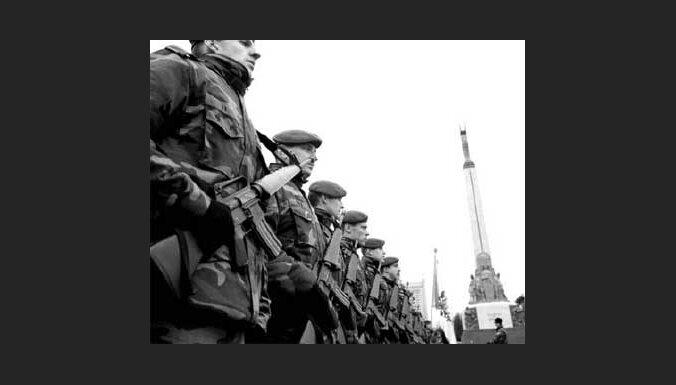 Парад латвийской армии