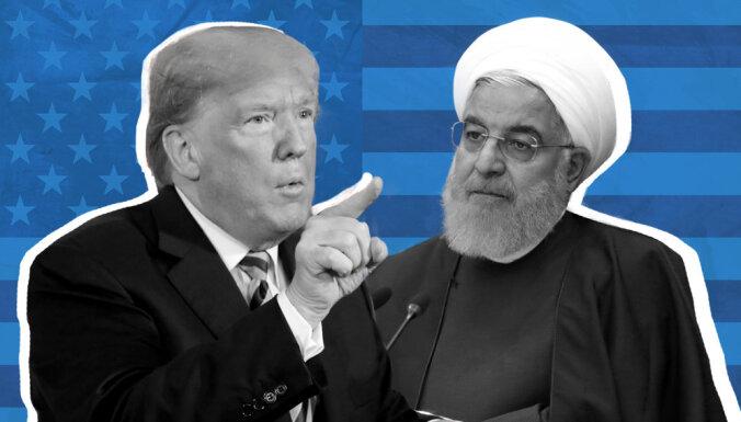 Līgumu laušana, sankcijas un asi vārdi: Kā Trampa komanda lenc Irānu
