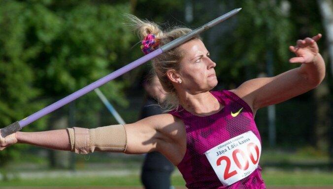 Palameika vēlreiz labo Latvijas rekordu šķēpmešanā