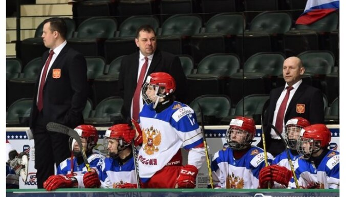 Russia U-18 head coach Sergei Golubovich