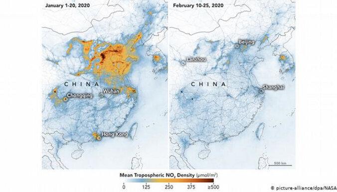Эпидемия коронавируса помогла снизить уровень загрязнения воздуха в Китае