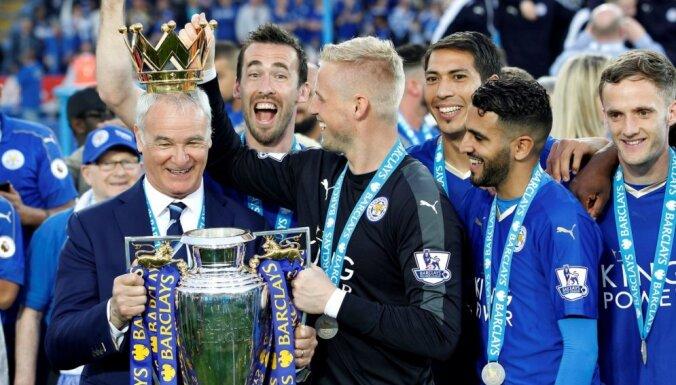 Lesteras 'City' futbolisti premjerlīgas titulu nosvin ar uzvaru pret 'Everton'