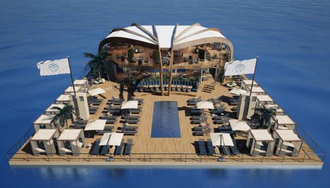Эксклюзивное судно для отдыха и развлечений строится в Рижском порту по заказу французской компании
