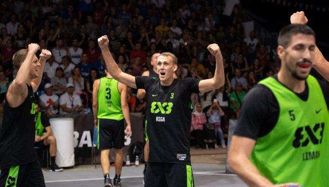 Latvijas 3x3 basketbolisti ar divām uzvarām sasniedz Pasaules tūres posma ceturtdaļfinālu