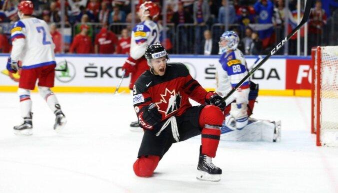Kanāda pēdējā trešdaļā šokē Krieviju un iekļūst PČ finālā