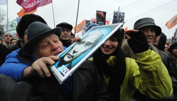 Maskavā protestētāji izklīst, solot pēc divām nedēļām atgriezties ar jauniem protestiem