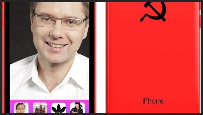 Jokdari prezentē īpašu Nila Ušakova iPhone