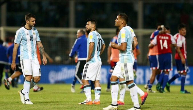 Argentina Sergio Aguero after losing Paraguay