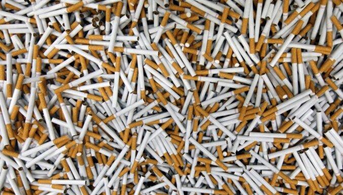 Из России в Латвию под видом щепы и брикетов пытались ввезти 10 тонн сигарет