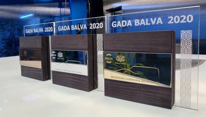 10 uzņēmumi iegūst Zelta kategoriju konkursā 'Drošākais uzņēmuma autoparks 2020'