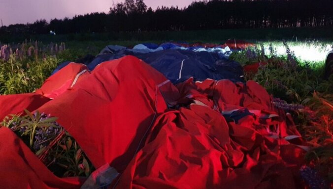 Вильнюс: во время посадки воздушного шара пострадала женщина