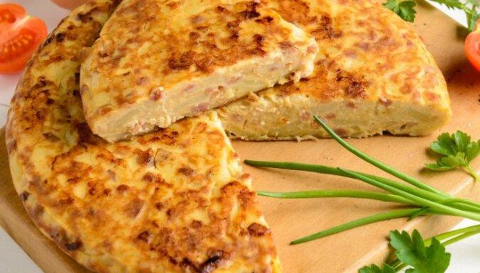 Kartupeļu omlete spāņu gaumē 'tortilla de patatas'