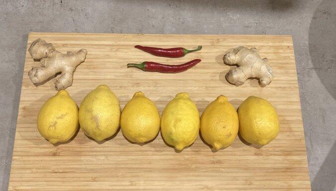 Asais citronu un ingvera ievārījums
