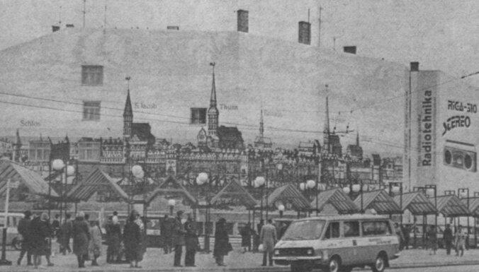 Foto: Nojauc vēsturisko maršruta mikroautobusu galapunktu pie Centrālās stacijas