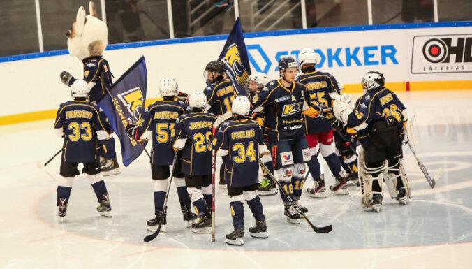 Visi favorīti sasniedz Latvijas kausa izcīņas pusfinālu hokejā