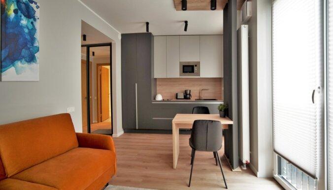 Foto: Kā izskatās 'Hepsor' projekta gatavie dzīvokļi Rīgas klusajā centrā