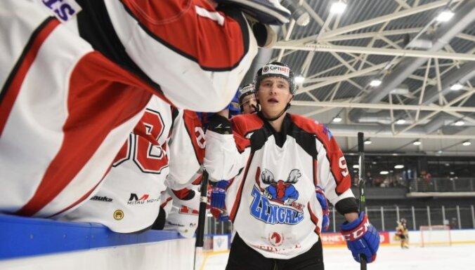 Foto: 'Zemgale'/LLU hokejisti pagarinājumā pieveic virslīgas līderi 'Liepāju/Optibet'
