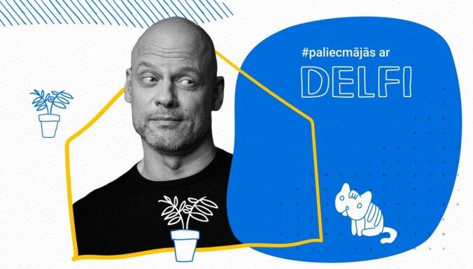 Valdis Melderis par pasākumiem, ceļojumiem un močiem raidījumā '#PaliecMājās ar Delfi'. Ieraksts