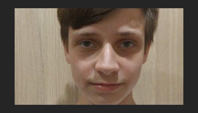 Policija lūdz palīdzību 14 gadus veca jaunieša meklēšanā